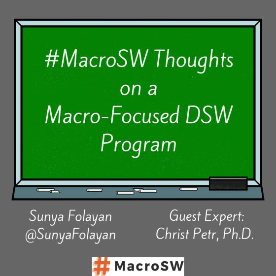 Thoughts on a Macro-Focused DSW Program
